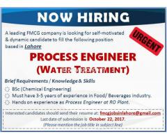 Process Engineer Required