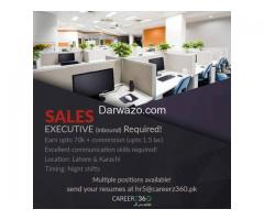 Sales Executive Required - Isalamabad