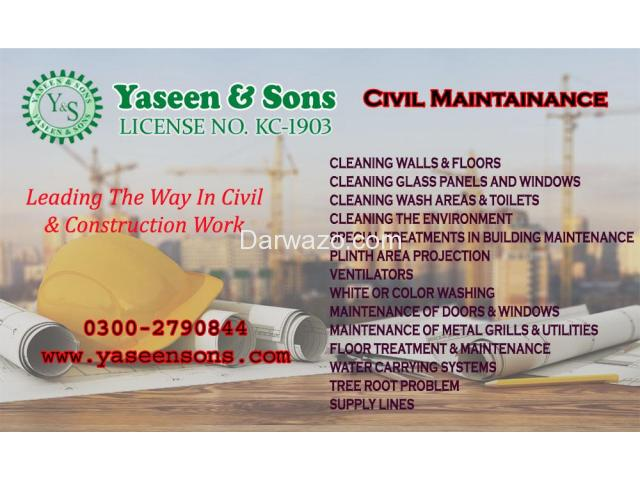 Civil Maintenance in Karachi Pakistan - 1
