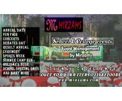 School and college events management in Karachi Pakistan