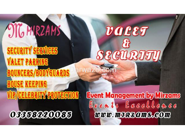 Valet parking and security services in Karachi Pakistan - 1