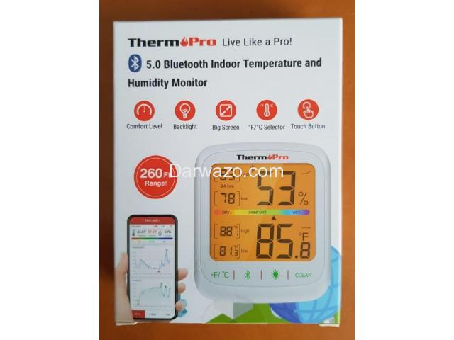 Thermometer Hygrometer Humidity Temperature Monitor Bluetooth App Controlled - 4