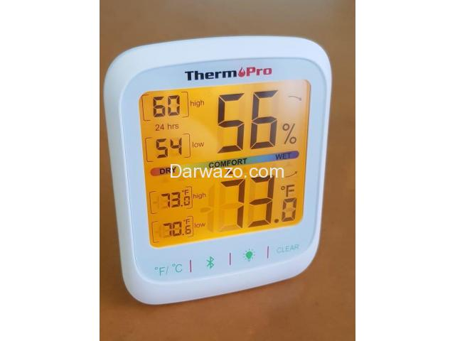 Thermometer Hygrometer Humidity Temperature Monitor Bluetooth App Controlled - 5