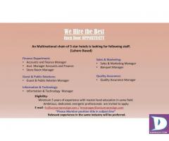 Guest & Public relation and Quality Assurance Manager