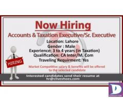 Accounts and taxation Executive / Sr Executive