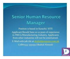 Senior Manager HR Required