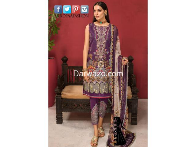 Noor Shanaya Linen Dress In Pakistan - 1