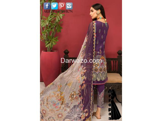 Noor Shanaya Linen Dress In Pakistan - 2