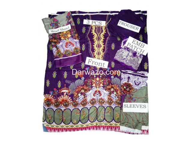 Noor Shanaya Linen Dress In Pakistan - 3