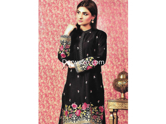 Kayseria Obsidian Linen Dress In Pakistan - 1