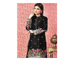 Kayseria Obsidian Linen Dress In Pakistan - Image 1