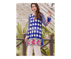 Nimsay Linen Blue Dress In Pakistan