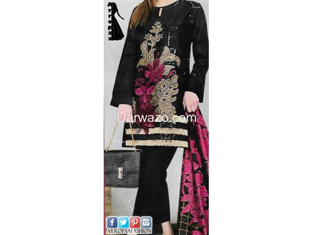 Agah Noor Linen Dress In Lahore - 1