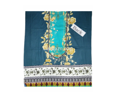 Ombre Firdous Blue Linen Dress In Pakistan - Image 3