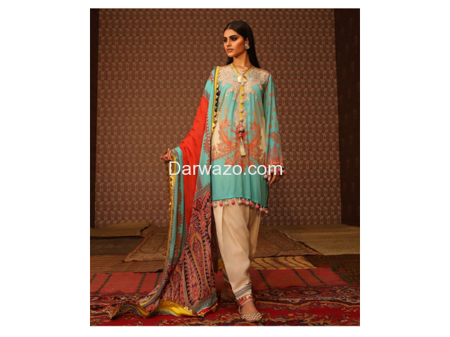 New Sana Safinaz Linen Dress In Lahore - 1