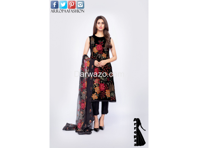 Bareeze Petal Perfect Linen Dress In Lahore - 1