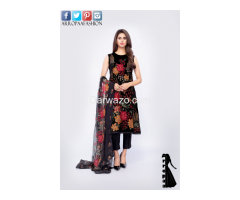 Bareeze Petal Perfect Linen Dress In Lahore