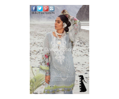 Mbroidered Gray Linen Dress In Pakistan