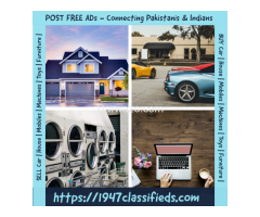 Post Free Classified Ads in Pakistan and India